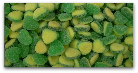 Green Love Hearts