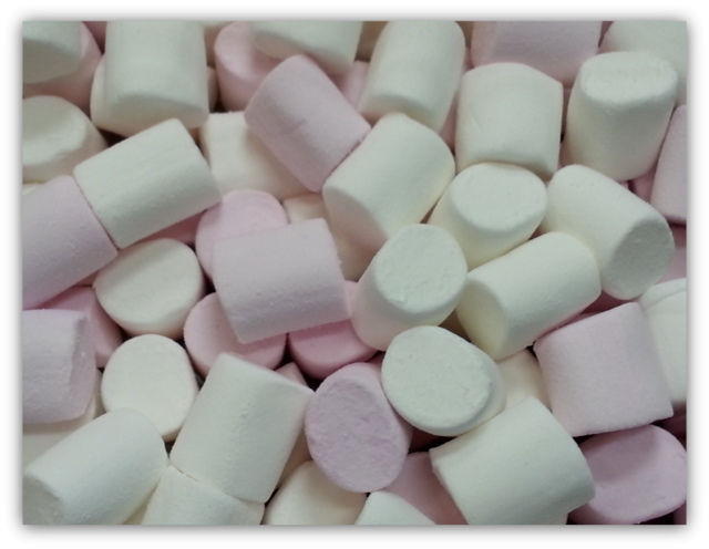 Pink and White Plain Marshmallows