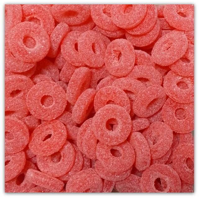 Large Fizzy Strawberry Rings